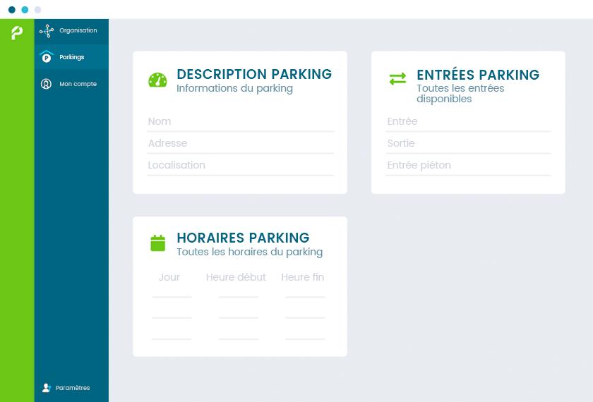 Informations centralisées sur votre parking