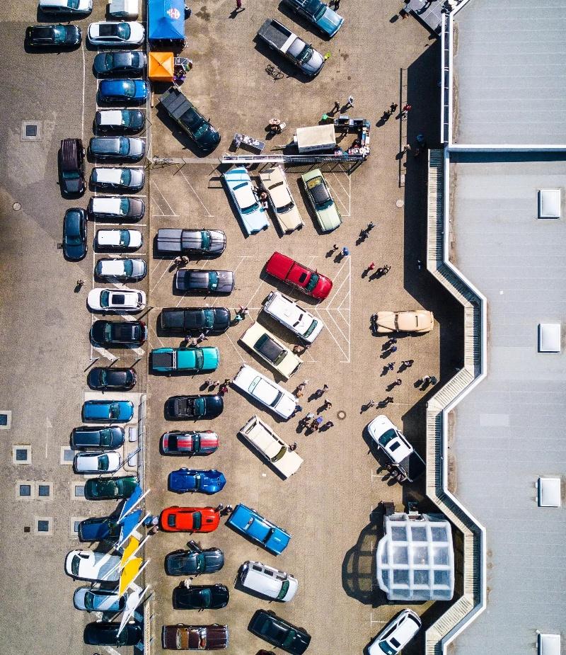 Défis de parking d'Orange